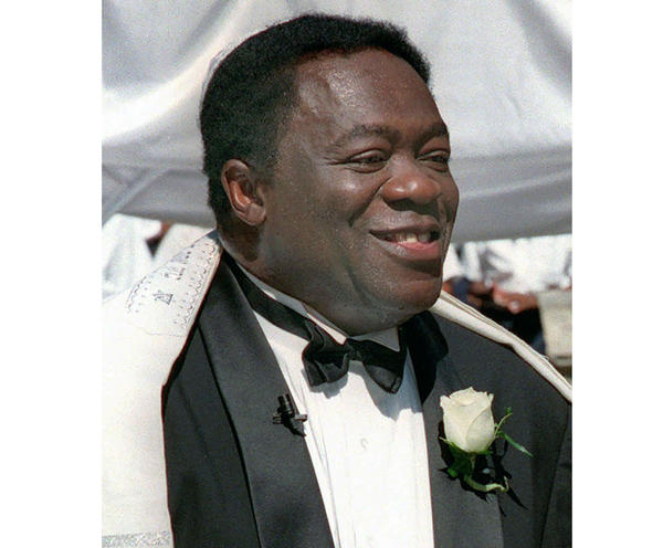 Actor Yaphet Kotto appears on his wedding day in Baltimore, Md., on July 12, 1998. Kotto, the commanding actor of the James Bond film <em>Live and Let Die</em> and as Lt. Al Giardello on the 90's NBC police drama <em>Homicide: Life on the Street</em>, died Monday at age 81.