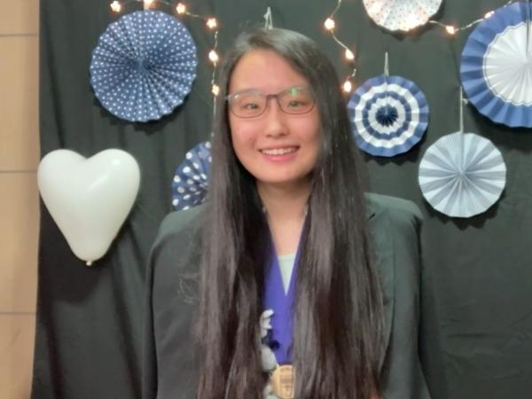 Yunseo Choi won first place Wednesday in this year's Regeneron Science Talent Search STEM competition.