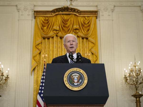 President Biden announces that his administration will meet his goal of administering 100 million COVID-19 vaccine doses 42 days ahead of schedule.