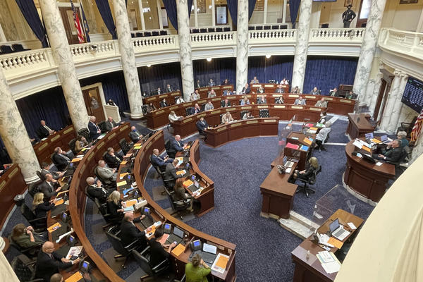 Lawmakers in the Idaho House of Representatives debate a bill this week. The Idaho Legislature has recessed until April 6 due to an outbreak of COVID-19 among members and staff.