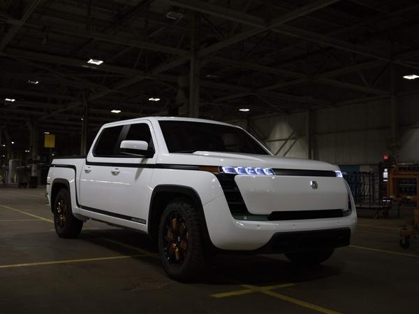 Lordstown Motors, unveils their new electric pickup truck Endurance in Lordstown, Ohio, on Oct. 15, 2020. The company has been accused of making fraudulent claims by a short seller, but the auto maker denies the accusations.