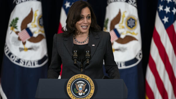 Vice President Harris called on the Senate to pass measures to expand background checks for gun buyers.