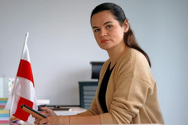 Svetlana Tikhanovskaya, the exiled leader of Belarus' pro-democracy movement seen photographed in September in Vilnius, Lithuania, is calling for a revival of mass protests in her country against the regime of Alexander Lukashenko.
