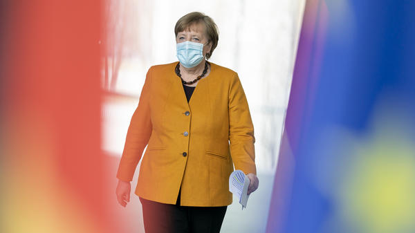German Chancellor Angela Merkel prepares to announce a reversal of a planned hard lockdown for Easter on Wednesday.