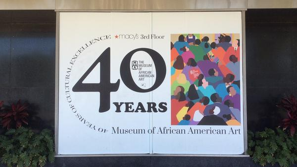 """The Museum of African American Art in Los Angeles is a """"micro museum"""" tucked away on the third floor of a Macy's in the city's Crenshaw district. The museum has been closed since March 2020."""