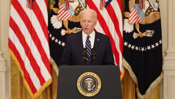 President Biden gives his first news conference of his presidency Thursday at the White House.