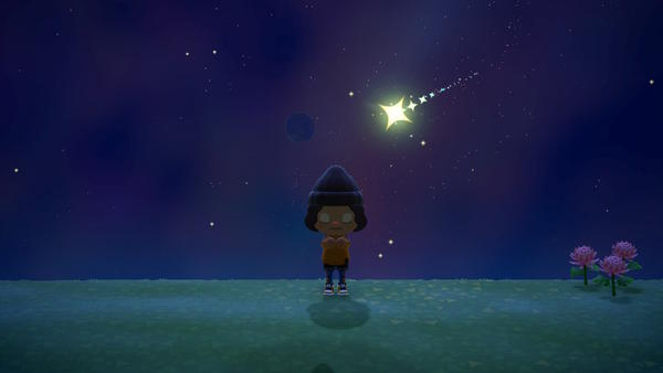 <em></em>Wish on stars in <em>Animal Crossing: New Horizons</em> and the next morning, jewel-bright star fragments will wash up on your beaches.