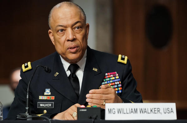 Maj. Gen. William Walker, seen here during a Senate hearing on March 3, has been appointed as the House sergeant-at-arms.