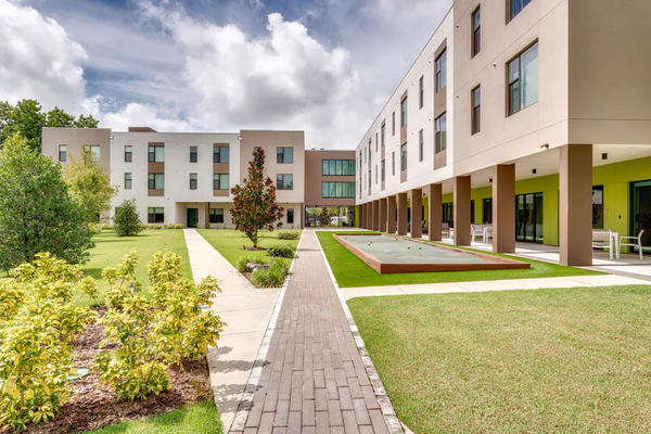 The Graham at Gracepoint is an affordable housing complex in Tampa, serving a mix of formerly-homeless persons and seniors.