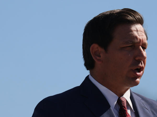 Florida Gov. Ron DeSantis, seen here in January, said this week that he will issue emergency rules to prevent businesses from requiring proof of vaccination.