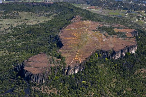 An aerial view of Table Rocks in the Rogue Valley. This iconic formation is co-managed by the Bureau of Land Management and the Nature Conservancy and is among the conservancy's sites to officially reopen for public use on April 1.
