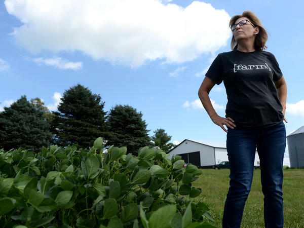 Former Iowa state Sen. Rita Hart has ended her challenge in a U.S. House race she lost to Republican Rep. Mariannette Miller-Meeks by six votes. Above, Hart appears at her farm in Wheatland, Iowa, on Aug. 13, 2019.