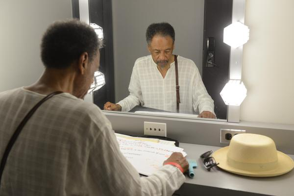 Henry Threadgill studies a score in his dressing room.