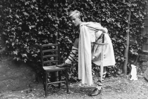 Prince Philip of Greece dressed for the Gordonstoun School's production of <em>Macbeth</em>, in Scotland in 1935.
