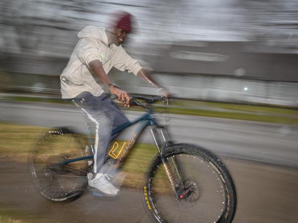 Awak Awak started mountain biking when the pandemic forced the restaurant where he worked to shut down.