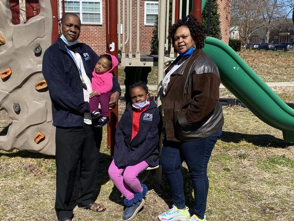 The Mulema family fled the Central African Republic, spent years in a refugee camp, and were eventually resettled in Newark, Del., by Jewish Family Services.