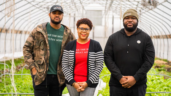 From left, Raphael Wright, Ederique Goudia and Jermond Booze are the team behind Taste the Diaspora. The initiative celebrates and supports Black chefs and food makers in Detroit.