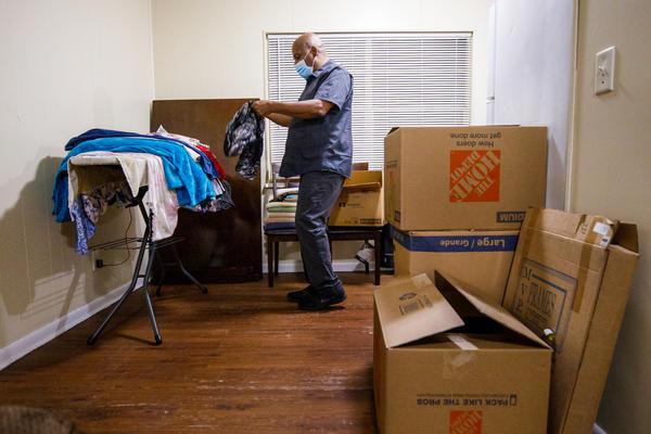 Gregory Curry has had almost all his belongings in boxes and in a storage locker since he was evicted in August. He spent more than seven months struggling to survive financially and unable to find another landlord willing to rent to him.