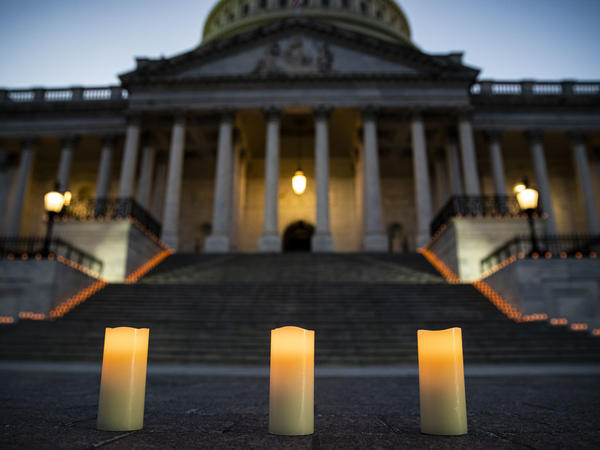 Congressional leaders held a candlelight vigil outside the U.S. Capitol in Washington, D.C. on February 23, 2021 to mark the more than 500,000 U.S. deaths due to the COVID-19 pandemic. COVID-19 was the third leading underlying cause of death in 2020, according to a study published by the Centers for Disease Control and Prevention on Wednesday.