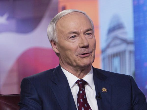"Arkansas Gov. Asa Hutchinson, pictured in 2019, on Monday said the bill banning gender-affirming medical care for transgender youth would set ""new standards of legislative interference with physicians and parents as they deal with some of the most complex and sensitive matters involving young people."""