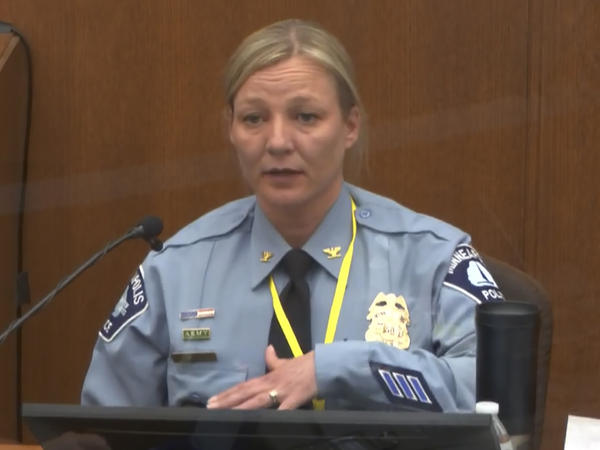 Minneapolis Police Inspector Katie Blackwell told jurors on Monday that former officer Derek Chauvin's restraint of George Floyd on May 25, 2020, did not fit the department's training in  defensive maneuvers.