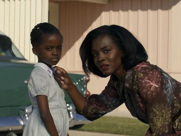 Gracie Emory (Melody Hurd) and Lucky Emory (Deborah Ayorinde) confront their traumas in <em>Them.</em>