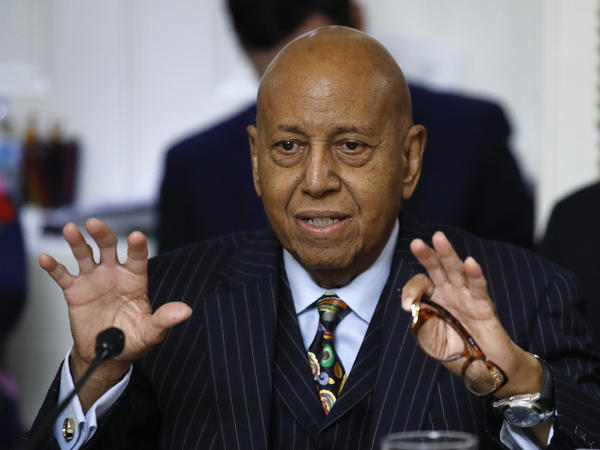 U.S. Rep. Alcee Hastings, D-Fla., speaks during a House Rules Committee hearing in December 2019. Hastings died this week following a lengthy battle with pancreatic cancer.