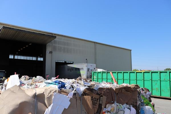 Midwest Fiber Recycling in Normal processes recycled materials through Normal's drop-off recycling program.