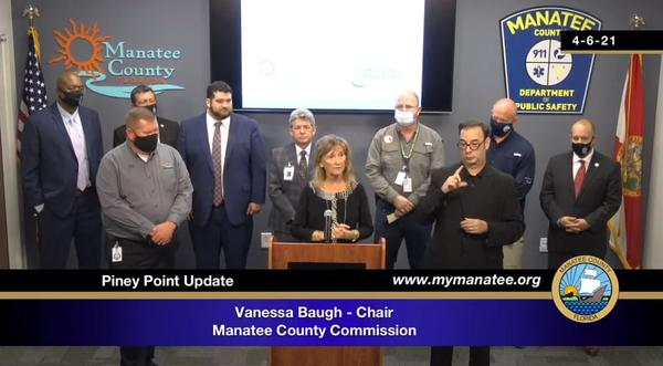 Manatee County Commission Chairwoman Vanessa Baugh said the commission voted to pump the remaining water from the phosphogypsum stacks at Piney Point into a deep injection well on nearby county-owned land.