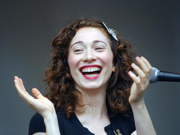 Singer-songwriter Regina Spektor at Lollapalooza in 2007, months before her nine-song performance for NPR's Moutain Stage.