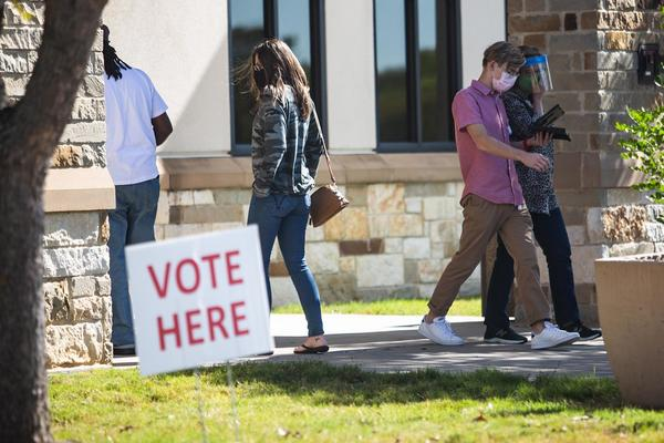 Voters go to the polls at the Williamson County Jester Annex on Election Day last year.