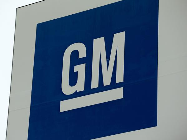 A sign is seen outside of a General Motors plant in Detroit,  on Jan. 27, 2020. GM said on Thursday it is idling more plants as it continues to deal with a shortage of chips.