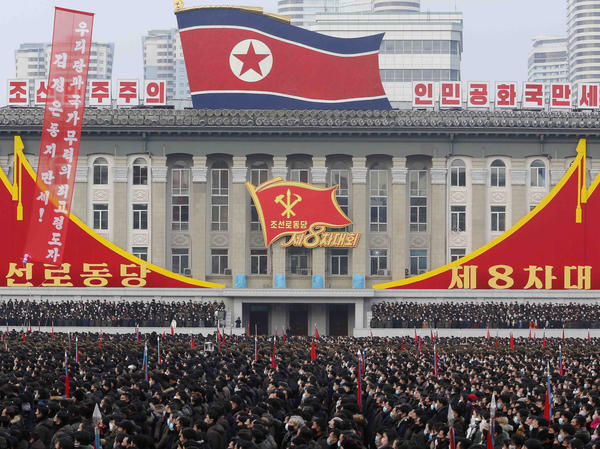 A mass rally is held in Pyongyang in January to celebrate North Korean leader Kim Jong Un's election as general secretary of the Workers' Party of Korea. Kim has been unusually frank in comments about the country's problems in recent months.