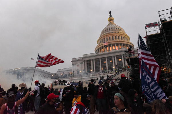 Police clear the U.S. Capitol Building with tear gas as supporters of U.S. President Donald Trump gather outside, in Washington, U.S. January 6, 2021. REUTERS/Stephanie Keith
