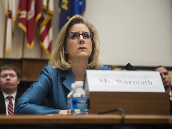 Christine Wormuth testifies on Capitol Hill in March 2015 during her tenure as undersecretary of defense for policy. Wormuth is President Biden's pick for secretary of the Army.