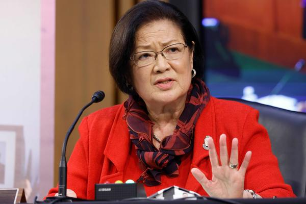 "Sen. Mazie Hirono, D-Hawaii, says her immigrant journey, detailed in a new memoir, has driven her to ""stand up to bullies."""