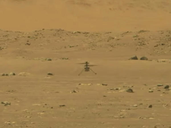 NASA's 4-pound, experimental helicopter Ingenuity lands on the surface of Mars on Monday.