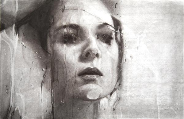 Alyssa Monks,<em> Transfixed (drawing), </em>2020, vine charcoal on paper