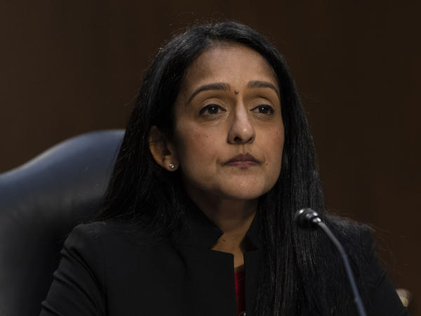 Vanita Gupta appears during her confirmation hearing last month before the Senate Judiciary Committee. The Senate voted to confirm Gupta as associate attorney general in a 51-49 vote.