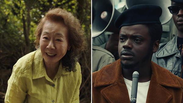 Youn Yuh-jung plays a Korean grandmother in <em>Minari </em>and Daniel Kaluuya plays Black Panther Party leader Fred Hampton in <em>Judas and the Black Messiah.</em>