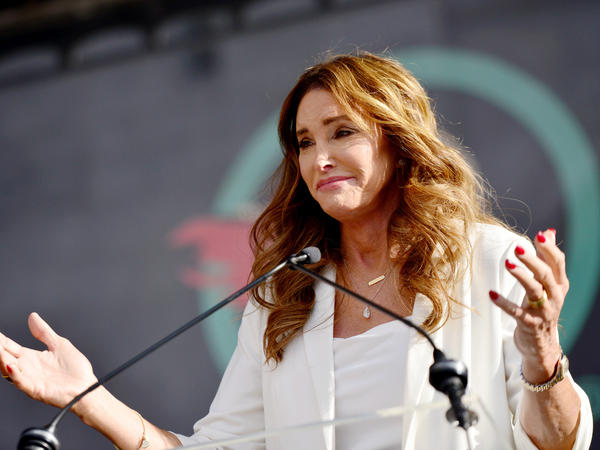 Caitlyn Jenner, seen here speaking at the Women's March LA in January 2020, has announced she is running for governor of California in a recall election that could happen this year.