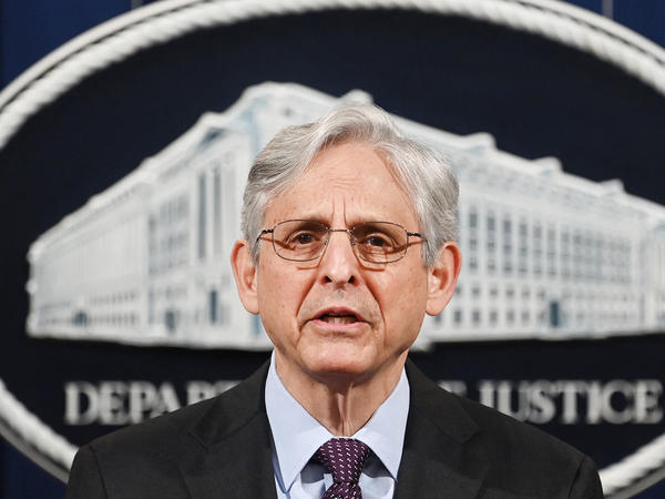 Attorney General Merrick Garland speaks Monday at the Department of Justice in Washington, D.C. Garland announced the department will open an investigation into the Louisville Metro Police Department.