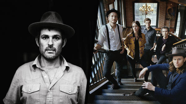 Gregory Alan Isakov (left) and The Lumineers cover one another's work on <em>Amerikinda: 20 Years of Dualtone</em>, a new compilation celebrating the Nashville label's artists and alums.