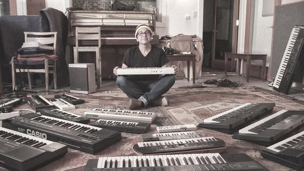 Money Mark, a still from the documentary <em>The Sound of Toys</em>.