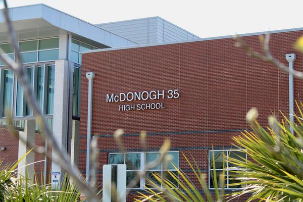 McDonogh 35 Senior High School in Gentilly. March 7, 2021.