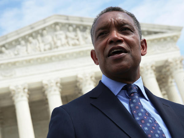 District of Columbia Attorney General Karl Racine, seen here in 2019, announced Tuesday that Washington is suing Amazon for alleged antitrust violations.