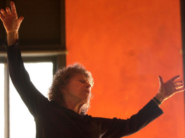 An undated photo of choreographer Anna Halprin teaching at her Marin County, Calif. studio.