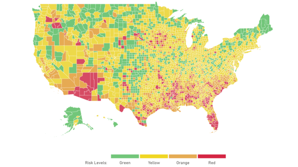 """A new <a href=""""https://globalepidemics.org/key-metrics-for-covid-suppression/"""">interactive map and dashboard</a> lets you find out how bad your county's coronavirus outbreak is."""