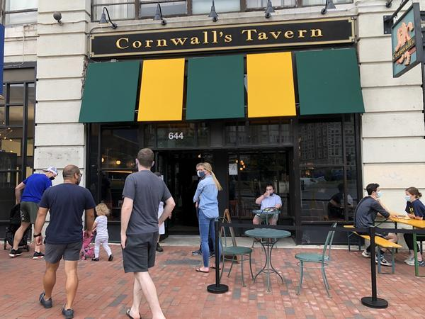 Opening day brings a small bump in business to Cornwall's, mostly from neighborhood regulars. But the initial rush would fizzle out soon after, leaving the family-owned pub just barely covering its costs.