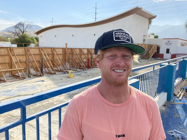 As the Palm Springs Surf Club's chief hydro officer, Cheyne Magnusson will be in charge of using a powerful pneumatic system to tailor-make waves for surfers. He likens it to being a wave DJ.